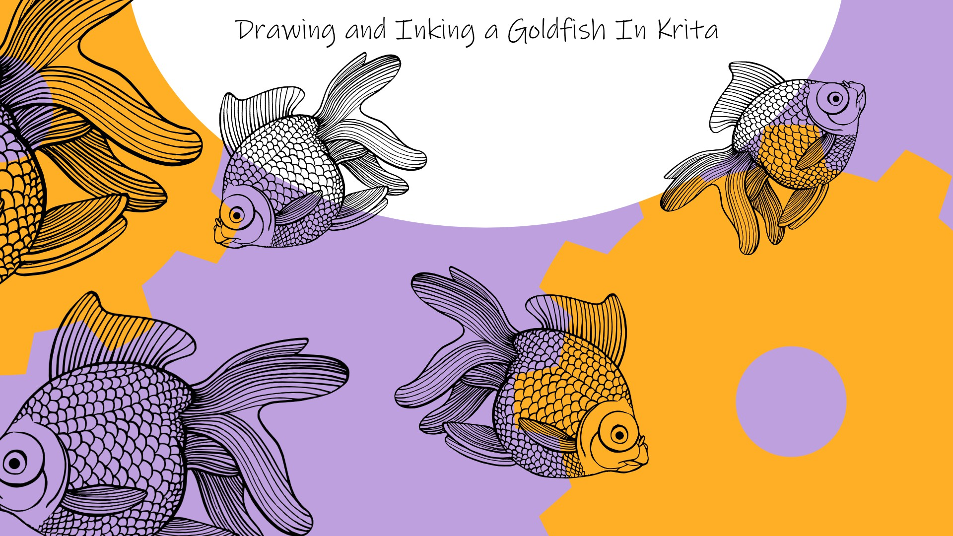 Drawing goldfish in Krita